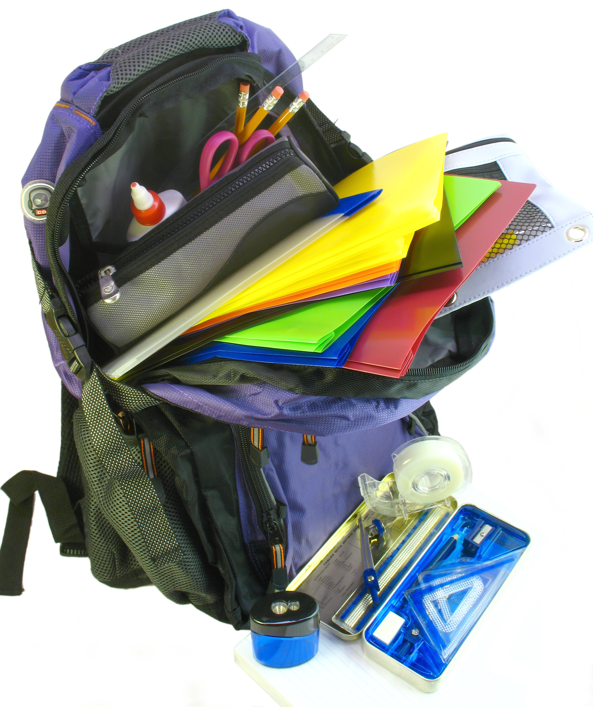 Emptying the backpack