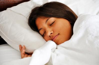 Sleeping Asian Teenage Girl
