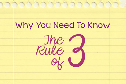 Be More Productive with the Rule of 3