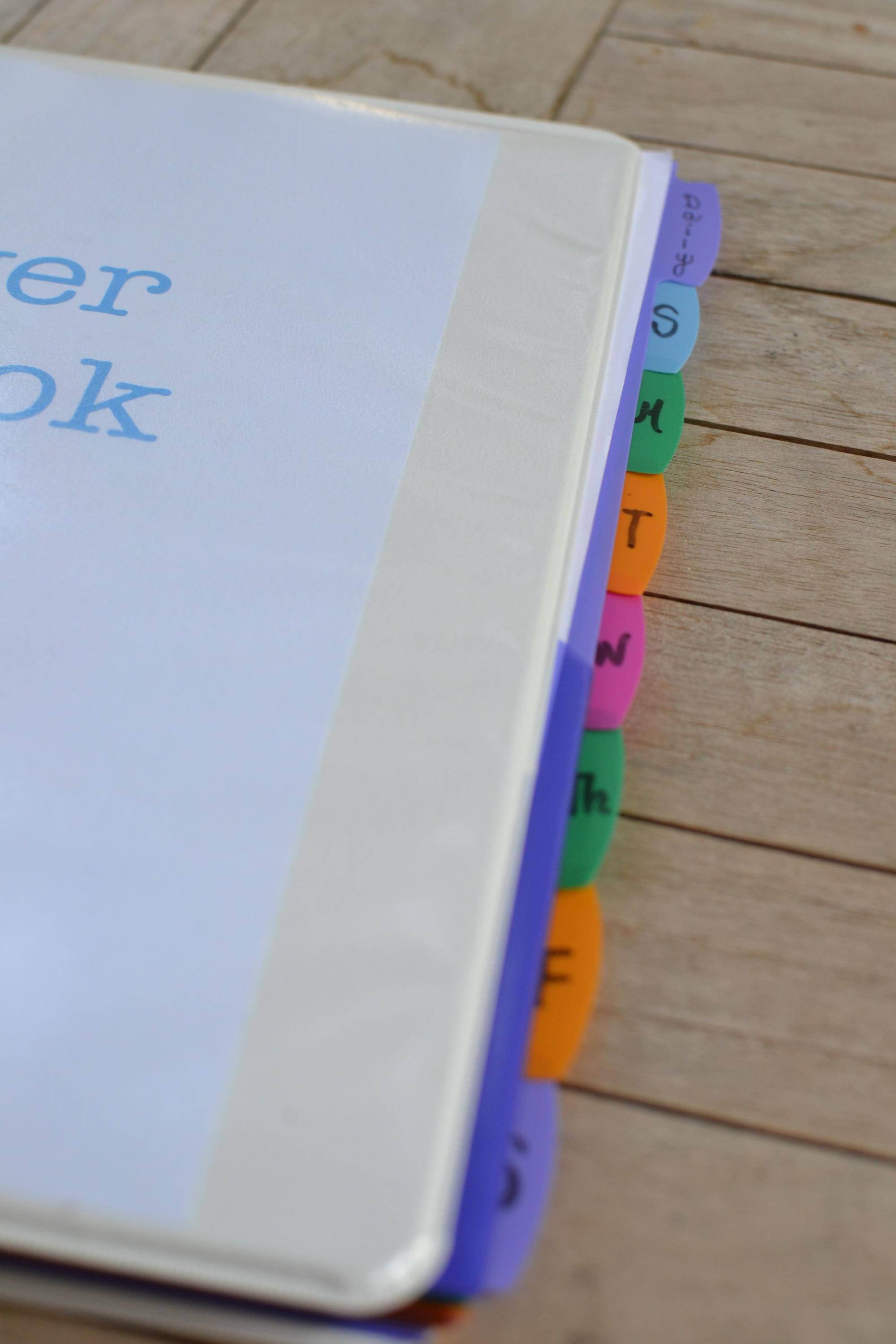 Jen's prayer notebook