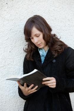 Paula reading her Bible