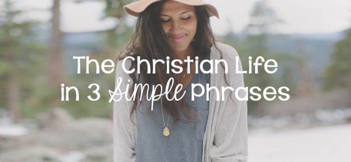 The Christian Life in 3 Simple Phrases - Lies Young Women